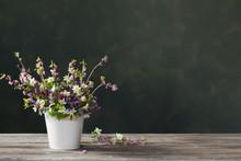Beautiful Spring Flowers On Ba...