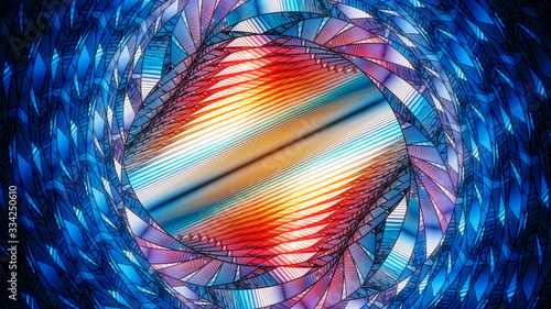 Fotografie, Obraz Colorful stained glass window