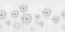 Seamless Dandelion Pattern, Ve...