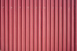 canvas print picture - Closeup of red corrugated steel panel