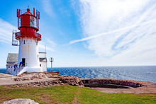 Historic Lighthouse At Norway