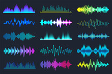 Colored Sound Waves Collection...