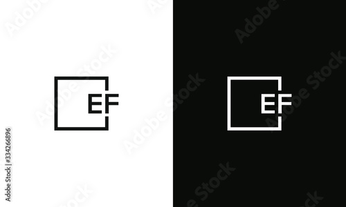 Letter EF Logo design concept template for business Fototapet