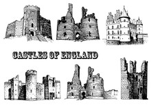 Graphical Set Of England Castl...