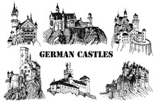 Graphical Set Of German Castle...