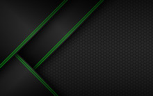 Black And Green Material Perfo...