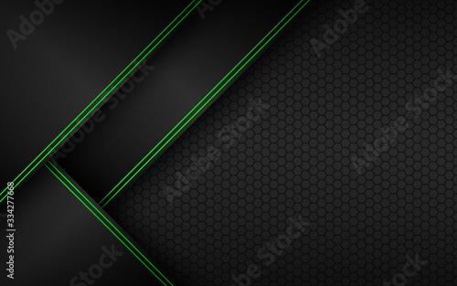 Black and green material perforated background Slika na platnu
