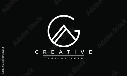 AG Letter Logo Design Canvas Print