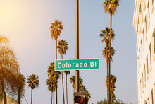 View Of Colorado Blvd Sign In ...
