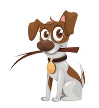 Cute Cartoon Jack Russell Terrier