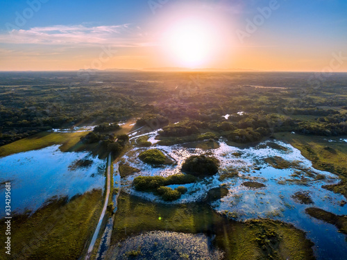 Pantanal photographed in Corumba, Mato Grosso do Sul Fototapeta