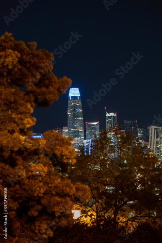 Night image overlooking San Francisco city.