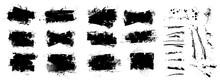 Vector Ink Splashes Stencil. V...