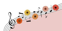 Music And Flowers Invitation B...