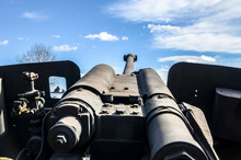 Large Calibre Field Gun In Fir...