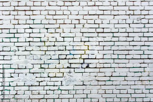 brick wall white brick old masonry Wallpaper Mural
