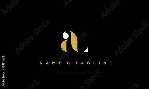 Photo Alphabet letter icon logo AL