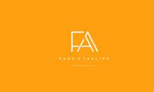 Alphabet Letter Icon Logo FA