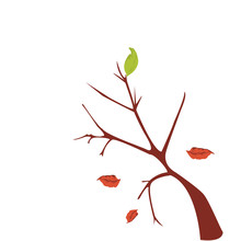 Dry Leaf And Tree Vector Design