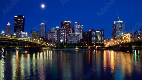 Fototapety, obrazy: Pittsburgh at night