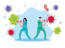 Doctors Couple Fighting Virus ...