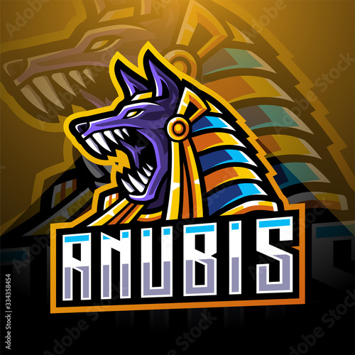 Photo Anubis head esport mascot logo design