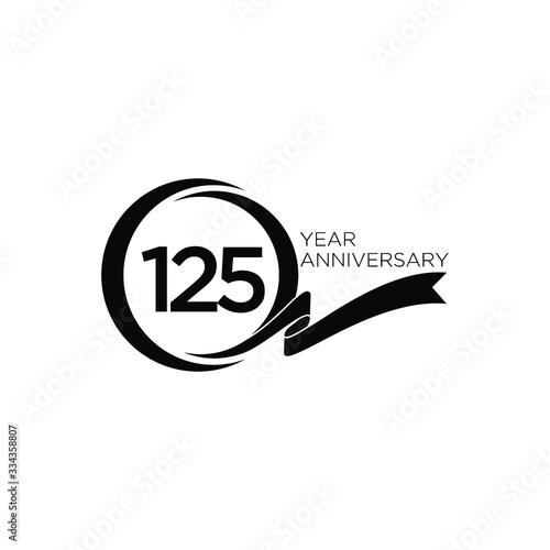 125 anniversary ribbon letter Fotomurales