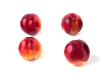 Nectarines On A White Background In Isolation