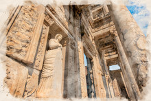 Library Of Celsus And Sculptur...