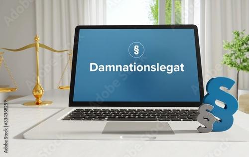 Damnationslegat – Recht, Gesetz, Internet Fototapeta