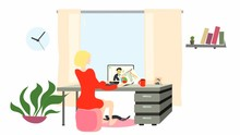 Graphic Animation With Woman I...