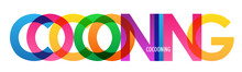 COCOONING Colorful Vector Typo...