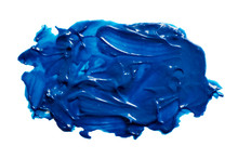 Vector Blue Paint Texture Isol...