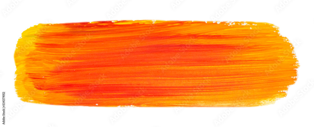 Fototapeta Vector orange paint texture isolated on white - acrylic banner for Your design