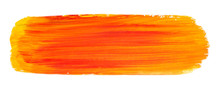 Vector Orange Paint Texture Isolated On White - Acrylic Banner For Your Design