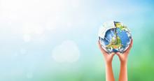 Earth Day Concept: Corona Viru...