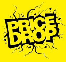 Price Drop Vector Banner, Lett...
