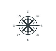 Compass Rose Wind Direction Na...