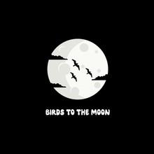 Birds In The Moon Logo Design
