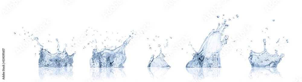Fototapeta real image water splash isolated on white background with clipping path.
