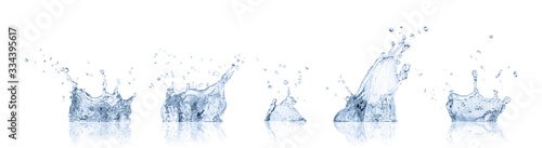 real image water splash isolated on white background with clipping path.