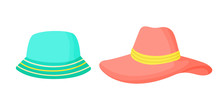 Hats Isolated On A White Backg...