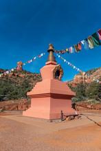 Buddhistic .Amitabha Stupa At Peace Park In Sedona