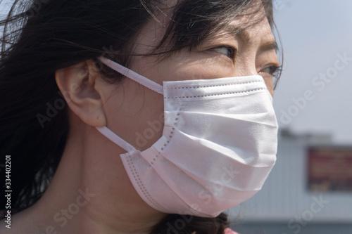 Foto マスク着用 女性