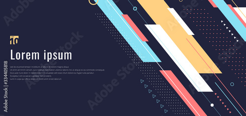 Tablou Canvas Banner web design template dynamic geometric pattern diagonal stripes line eleme