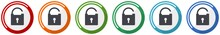 Padlock Icon Set, Security Fla...