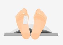 Naked Cartoon Human Feet With ...