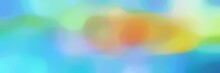 Blurred Iridescent Horizontal Header Background Texture With Sky Blue, Medium Turquoise And Dark Khaki Colors And Space For Text Or Image