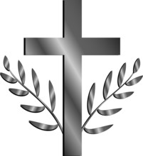 Christian Cross With Twigs Wit...
