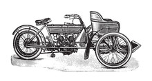 Old Motorcycle With Sidecar / ...